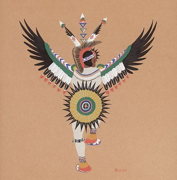 Paul K Follow Eagle dance, Stephen Mopope