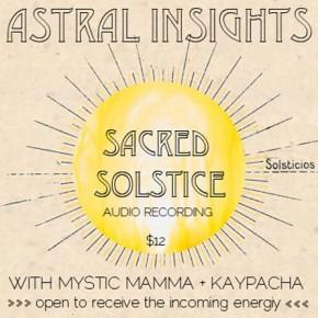 Sacred Solstice Audio Recording~