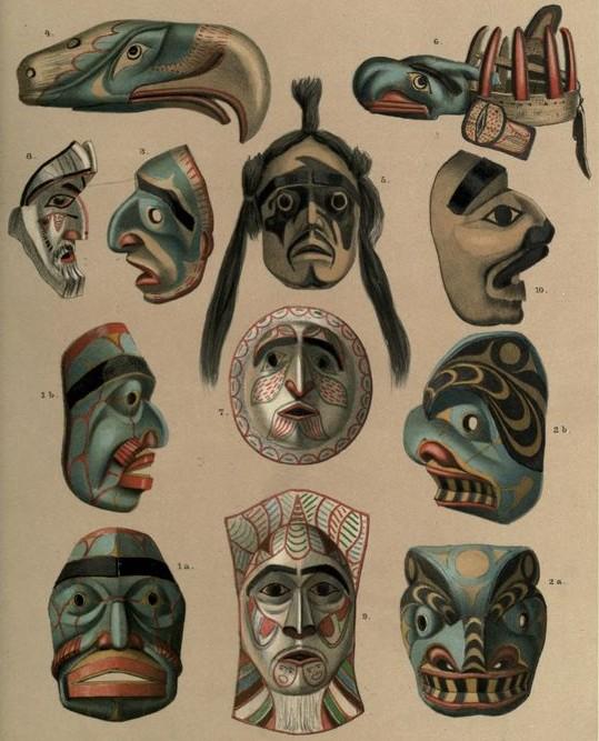 Kwakiutl masks1890-mysticmamma